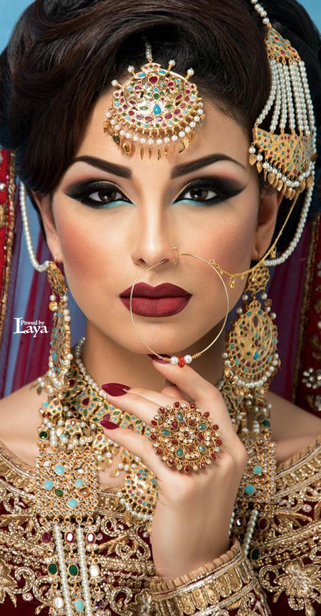 Pin By Label Shrena Hirawat On Beauty, Hair, Makeup | Indian Bridal pertaining to Indian Bridal Makeup Images