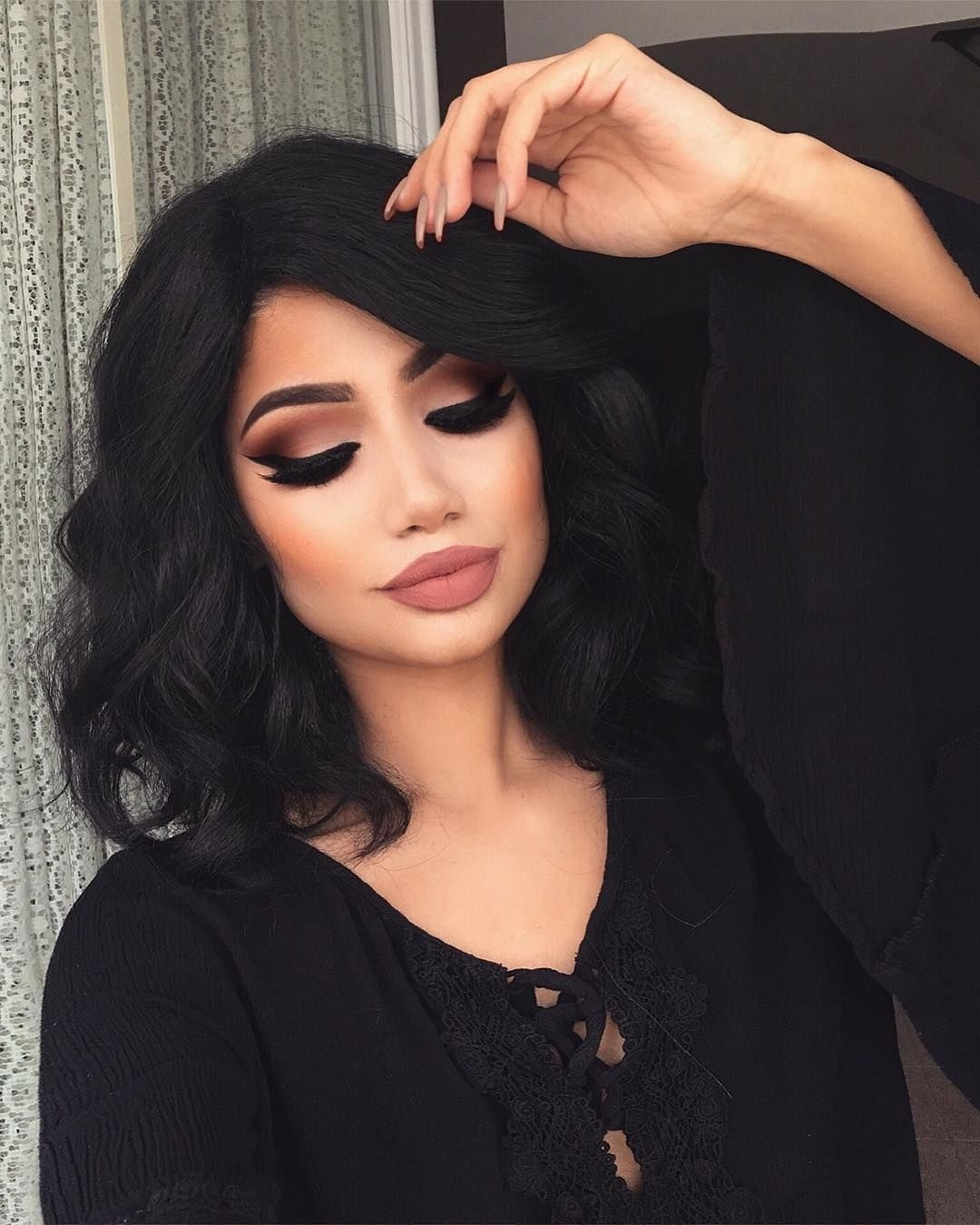 Pin By Rose Rossi On Hair Flare   Pinterest   Makeup, Makeup Looks throughout Makeup Ideas For Brown Eyes And Black Hair
