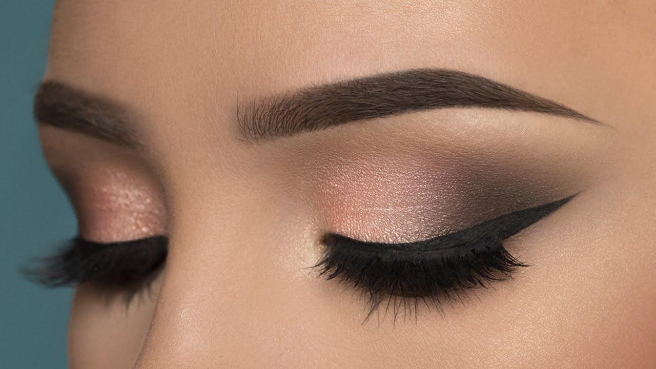 Soft Rosy Smokey Eye Makeup Tutorial - Youtube in Smokey Eye Makeup Tutorial
