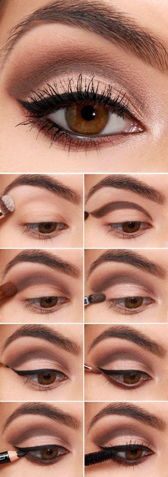 Step By Step Eyeshadow Tutorials | Nägel | Pinterest | Makeup, Eye in Makeup Ideas For Brown Eyes Step By Step
