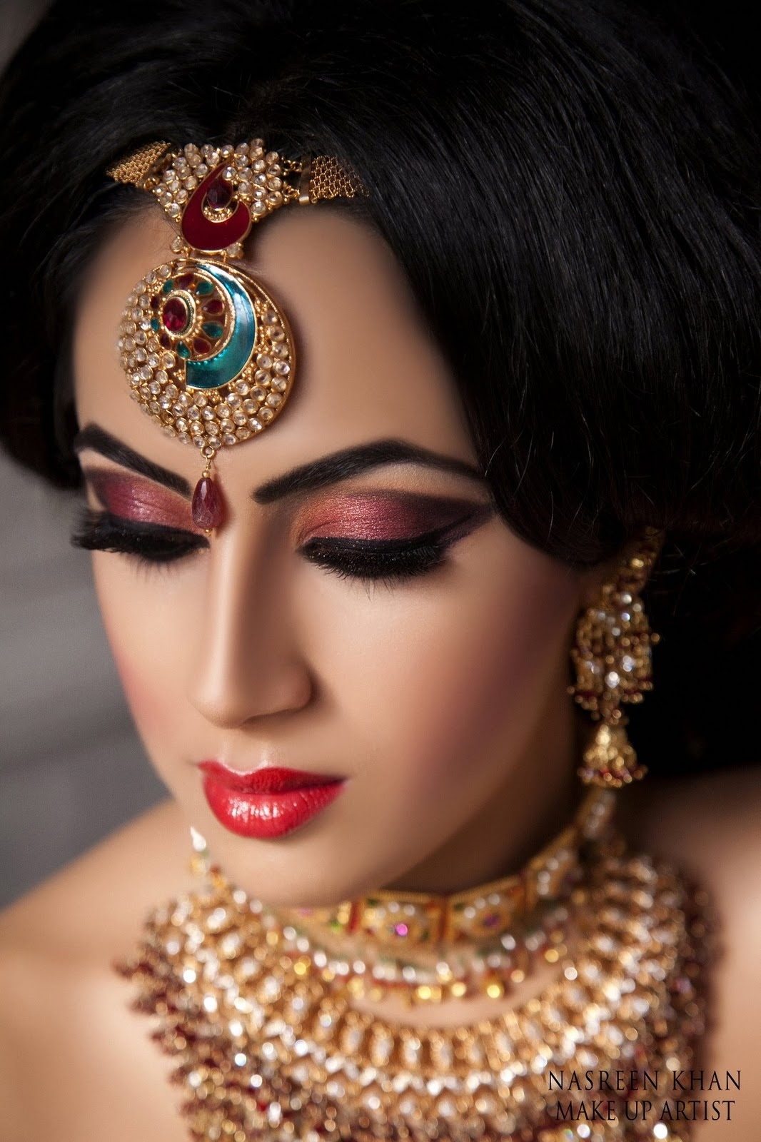 Stunning Bridal Makeup By Makeup Artist Nasreen Khan | Funmag within Wedding Makeup Gallery