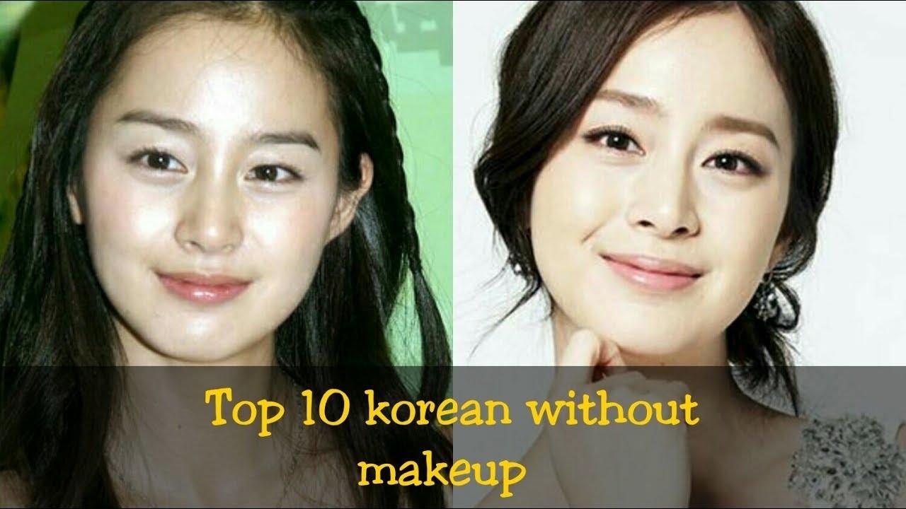 Top 10 Korean Actress Without Makeup - Youtube with regard to Korean Celebrities Before After Makeup