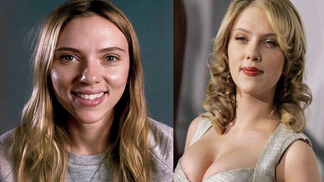 hollywood actresses before and after makeup – wavy haircut