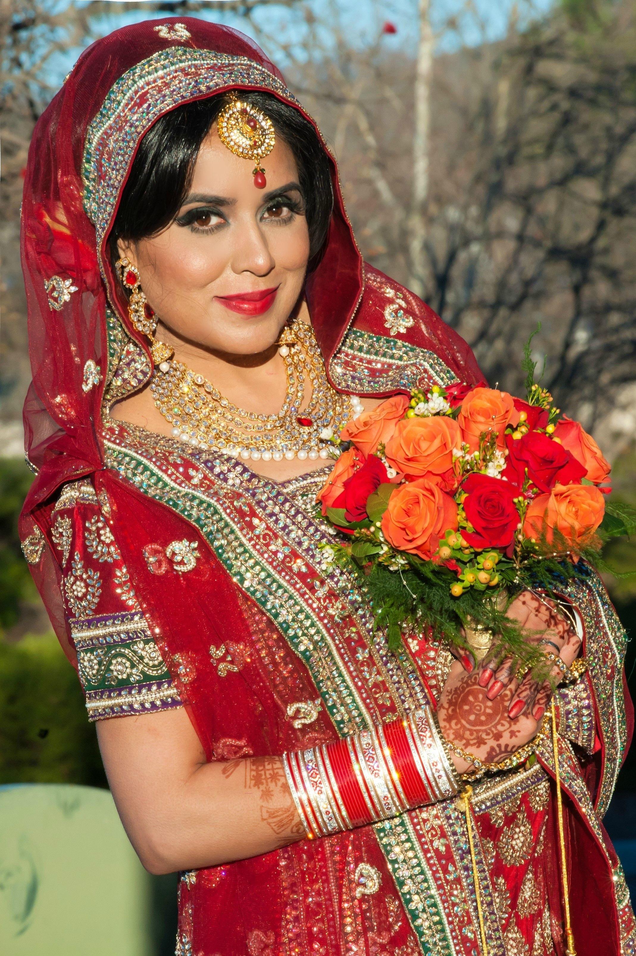 punjabi bridal makeup images – wavy haircut