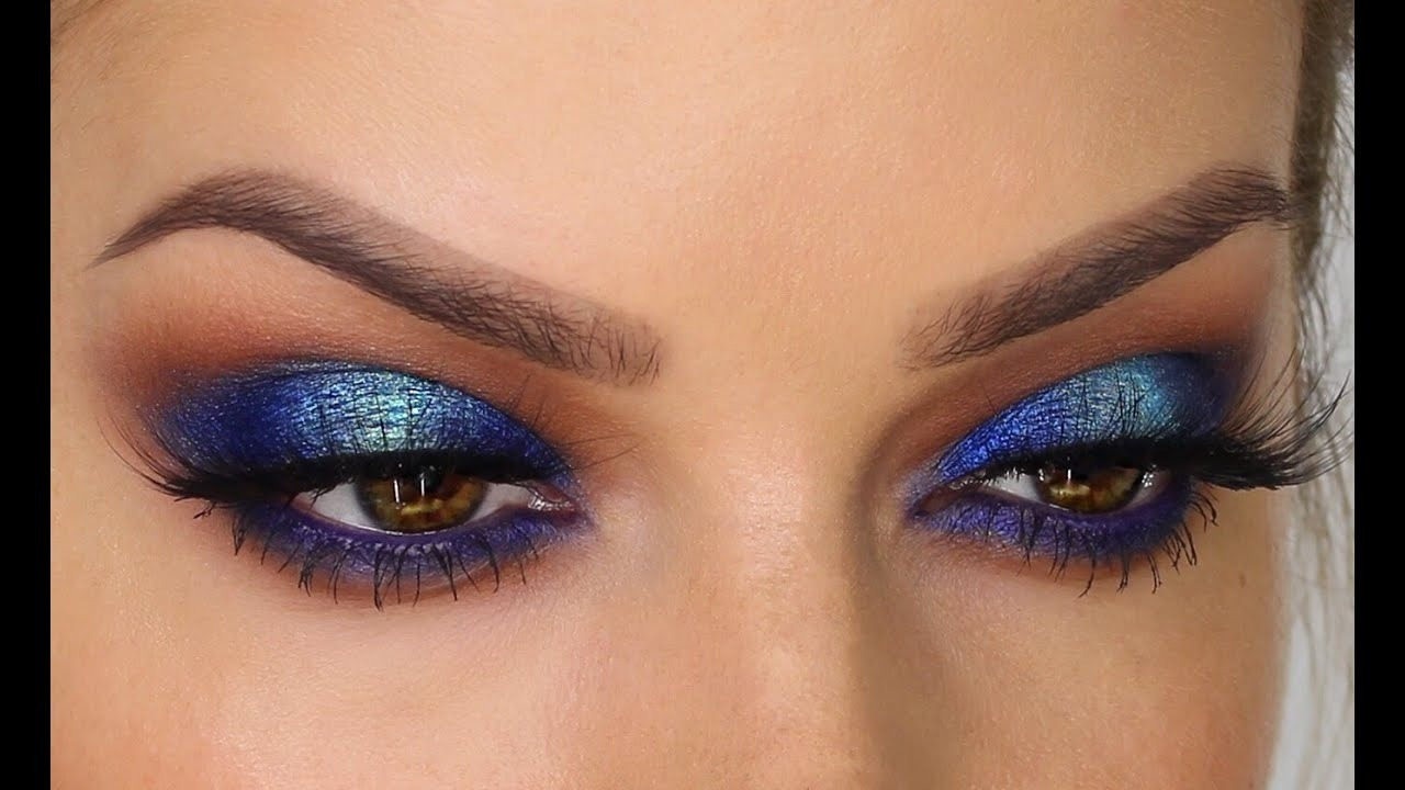 Two-Toned Blue Eyeshadow Makeup Tutorial | Shonagh Scott | Showme regarding Makeup Tutorial Using Blue Eyeshadow