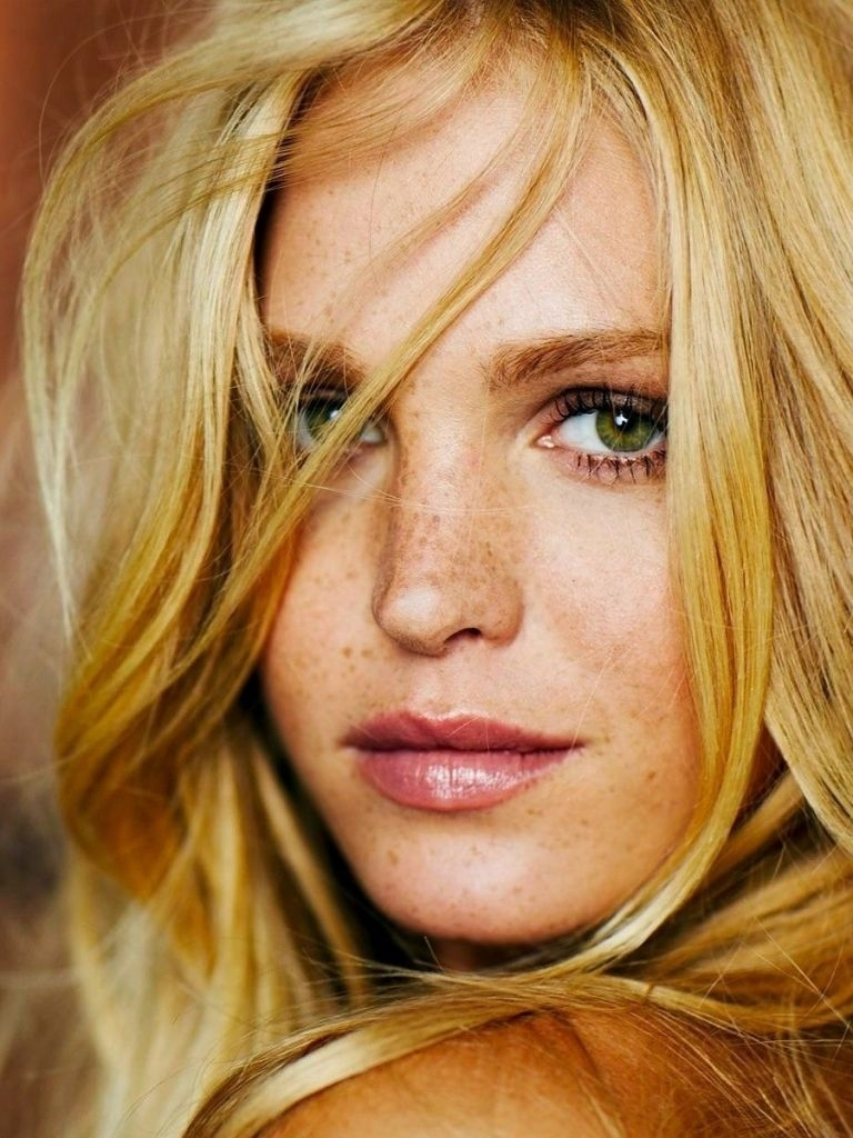 Wallpaper Erin Heatherton, Blonde, Freckles, Green-Eyed, Face regarding Makeup Tips For Green Eyes And Freckles