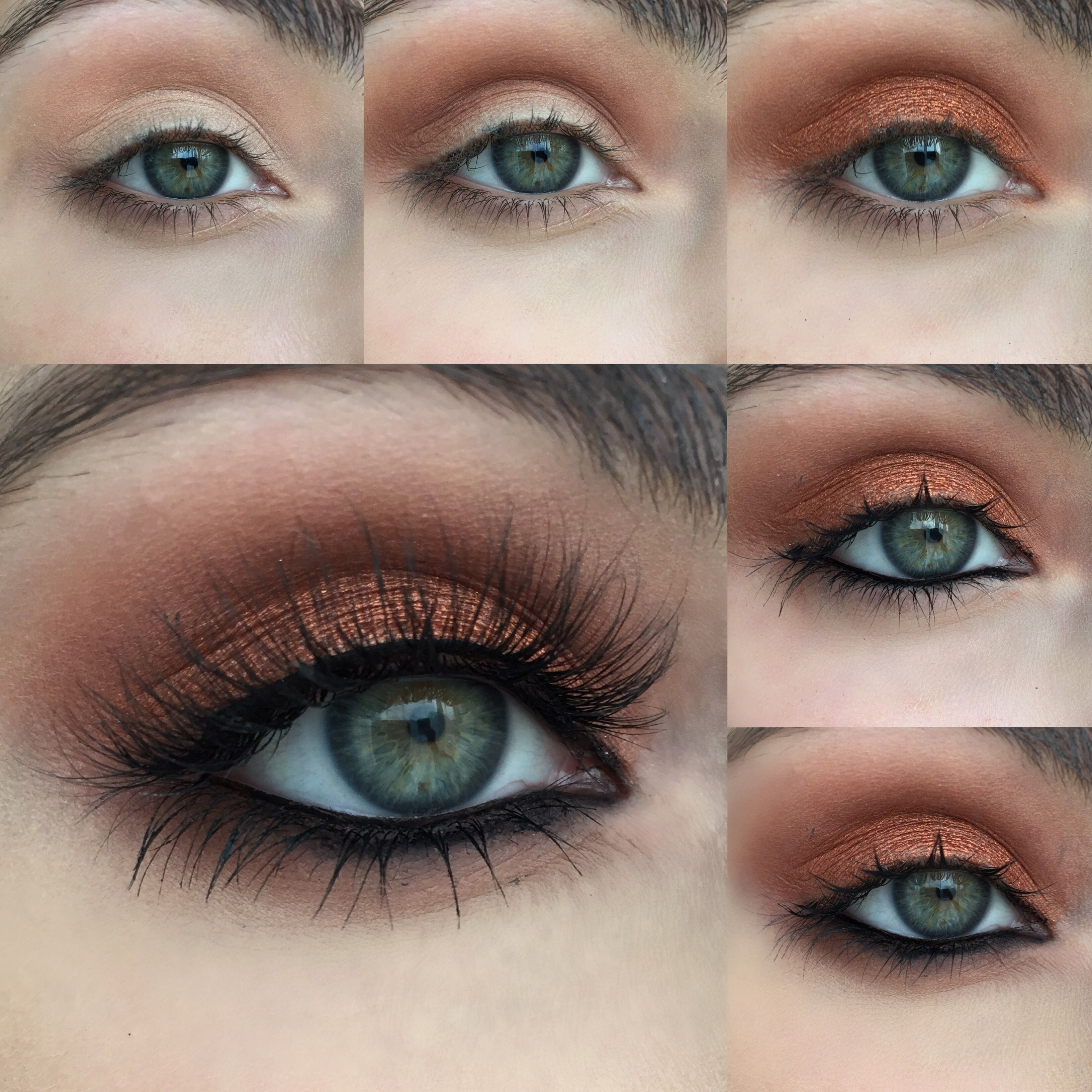 Warm Copper Photo Tutorial | Metallic & Glittery Makeup Looks with How To Apply Eyeshadow For Blue Green Eyes