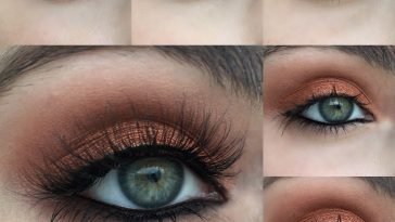 Warm Copper Photo Tutorial | Metallic & Glittery Makeup Looks with What Colour Eyeshadow Suits Light Green Eyes