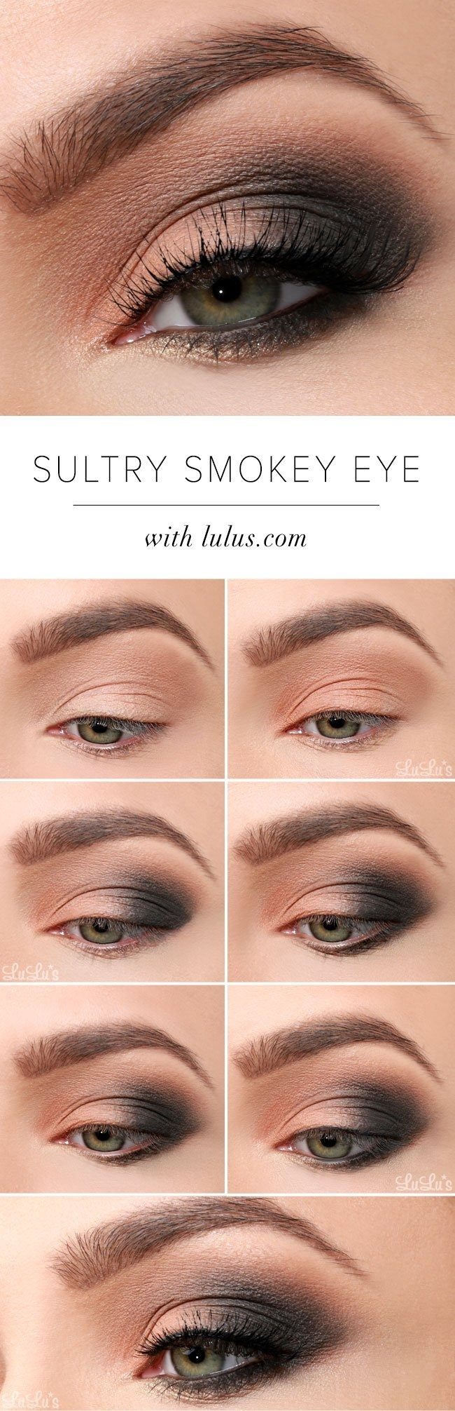 15 Smokey Eye Tutorials - Step By Step Guide To Perfect Hollywood Makeup intended for Smoky Eye Makeup Step By Step Pictures