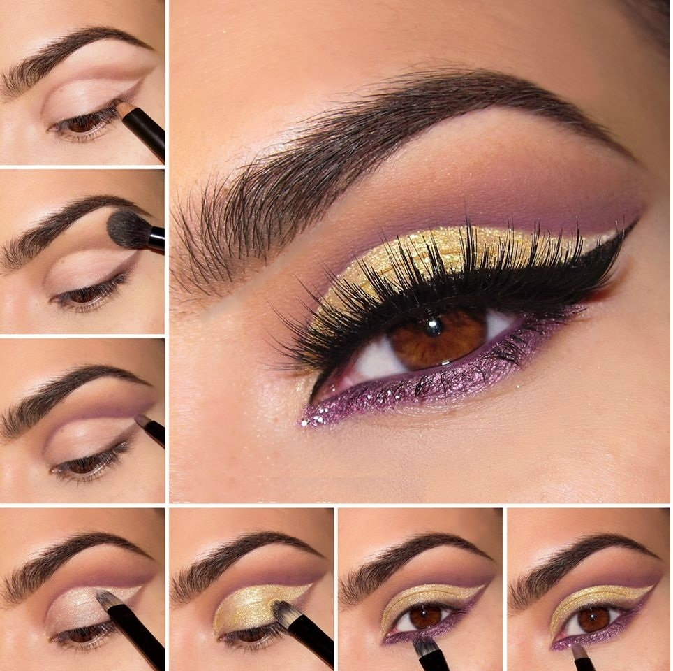 how to do eye makeup at home step by step with pictures