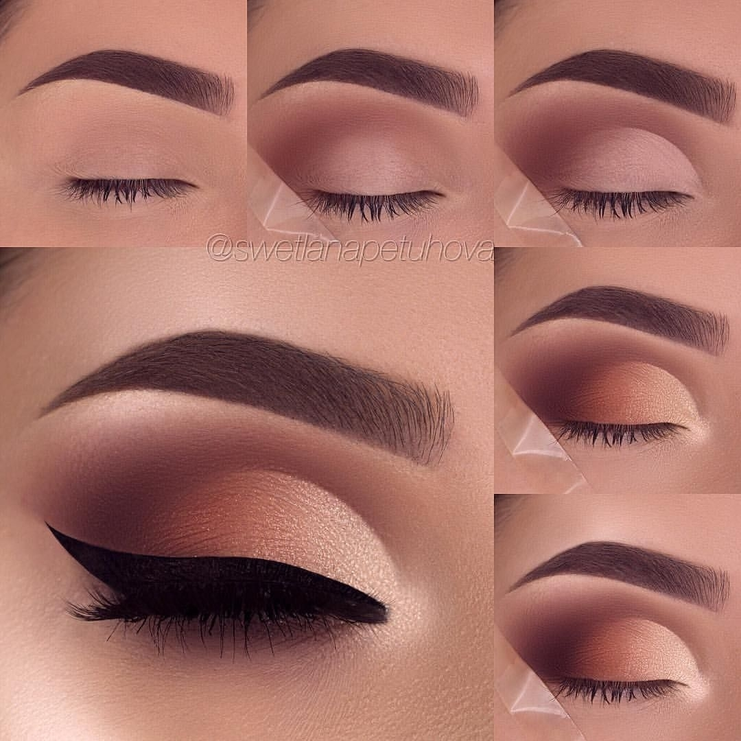 26 Easy Step By Step Makeup Tutorials For Beginners | Eyeshadow within Makeup Pictures Step By Step