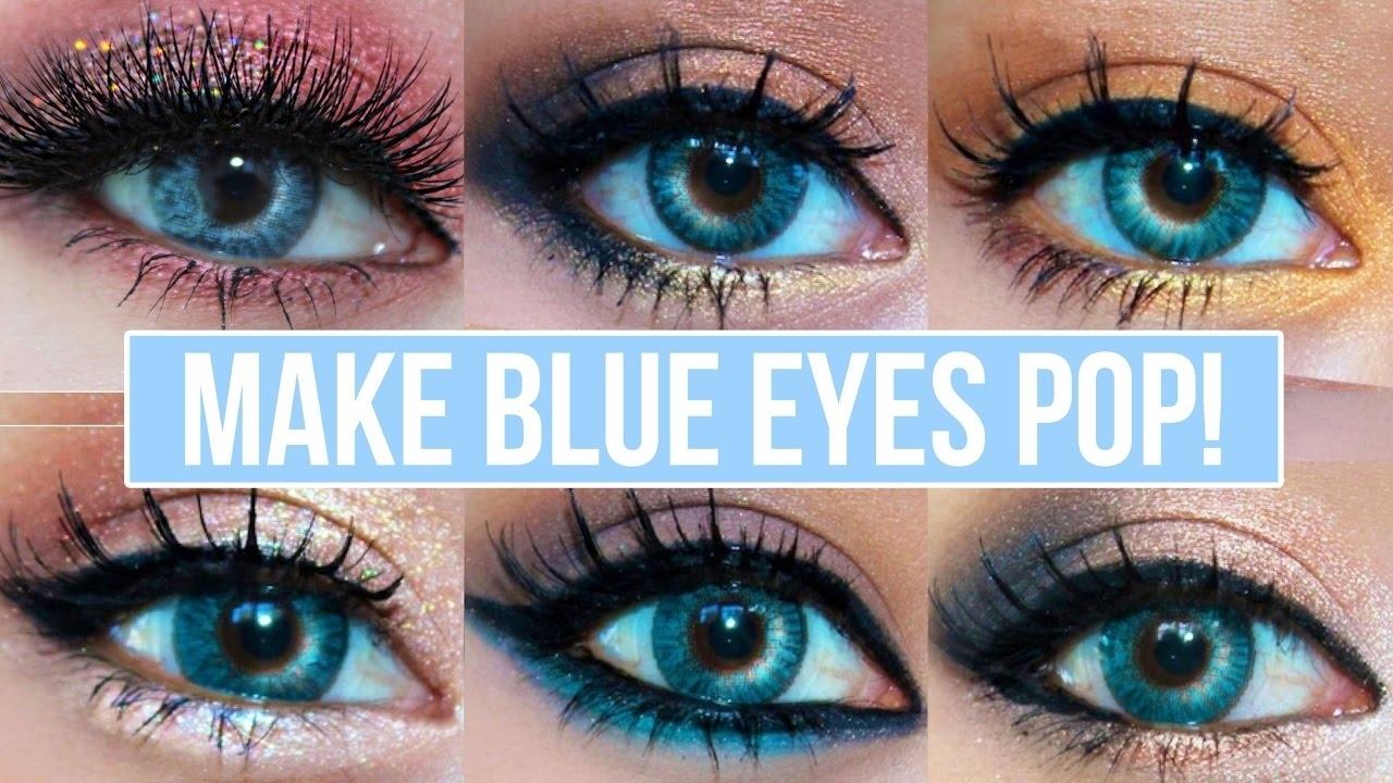 makeup colors blue eyes - wavy haircut