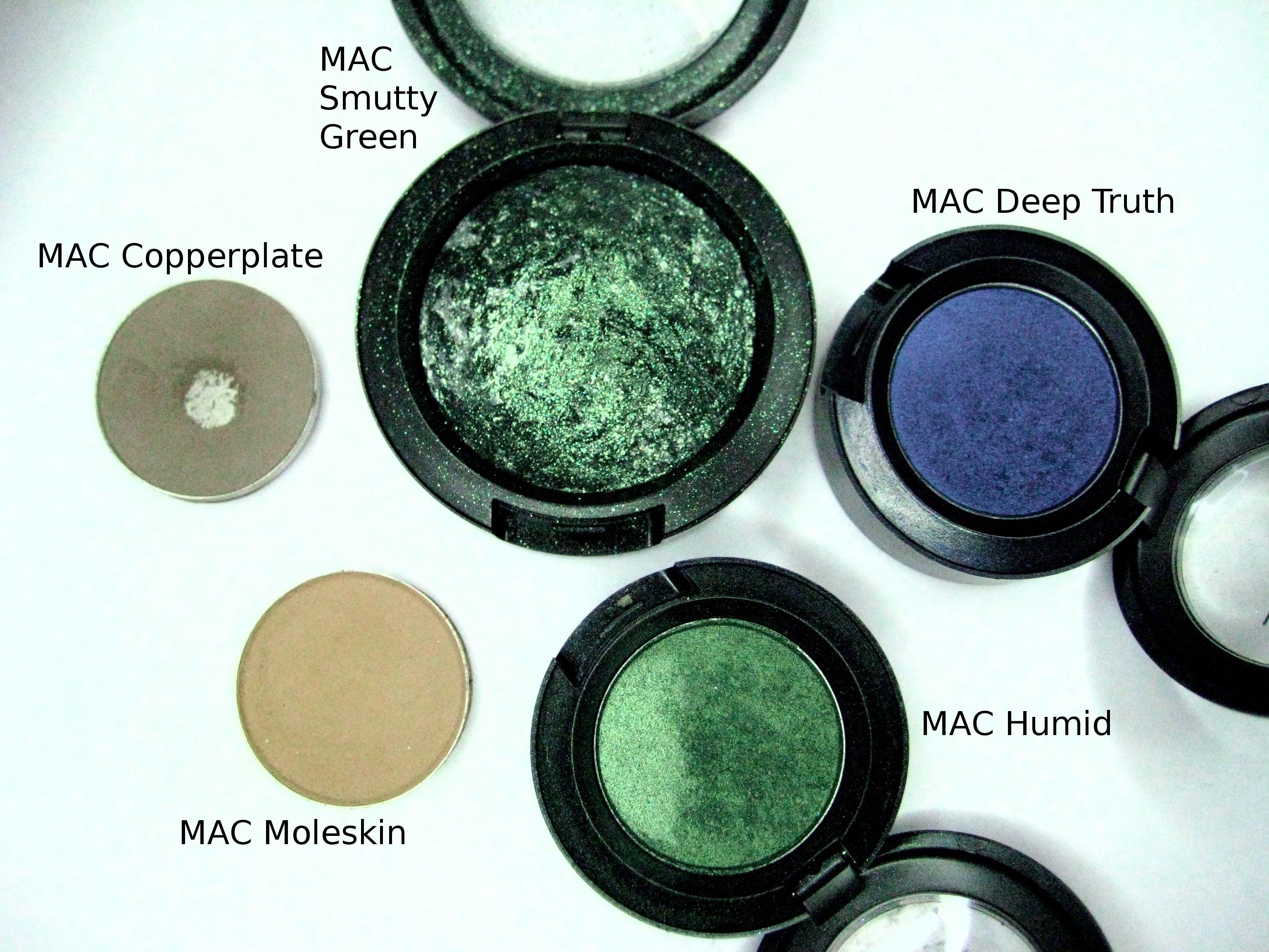 best mac green eyeshadow - wavy haircut