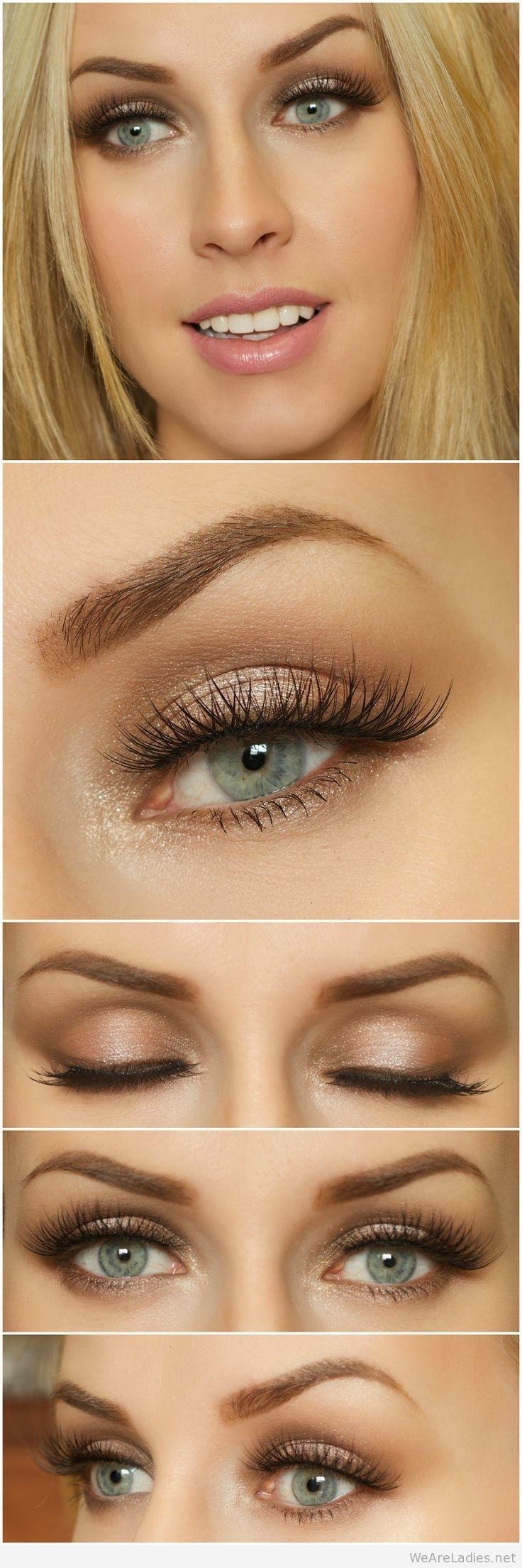 Brown Eye Makeup For Blue Eyes And Blonde Hair | Makeup In 2019 for How To Apply Eye Makeup For Blue Eyes Blonde Hair