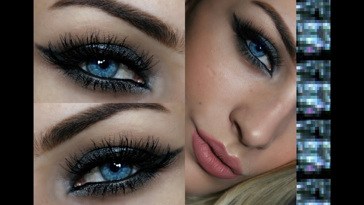 Eyeshadow For Blue Eyes | Silver Smokey Eye Tutorial - Youtube regarding How To Apply Eyeshadow For Blue Eyes Smokey Eyes