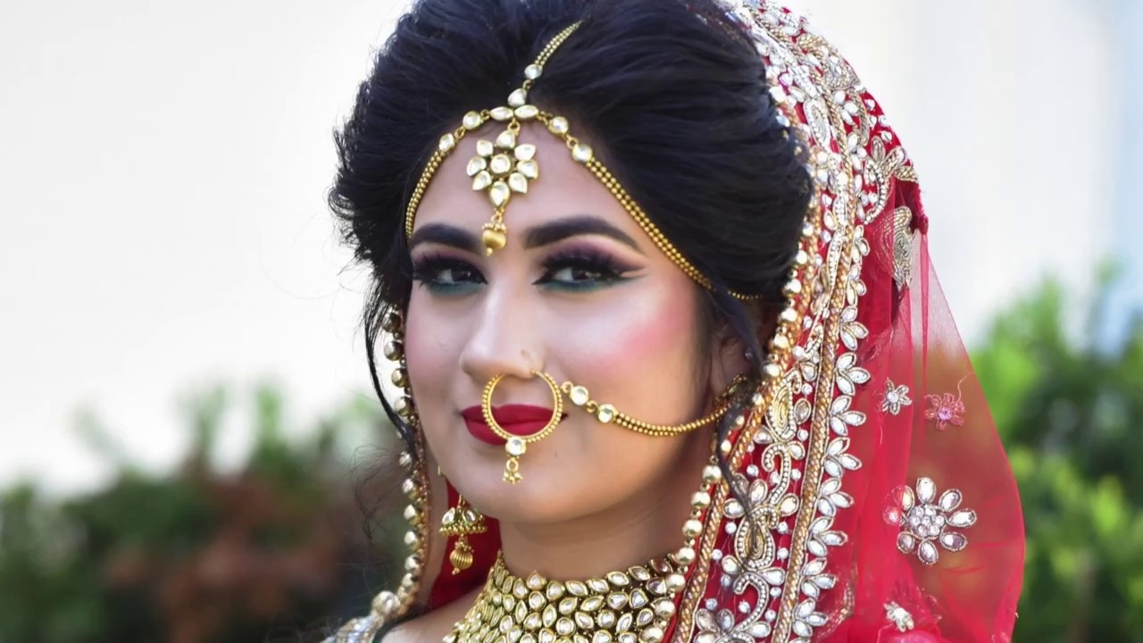 Indian Bridal Makeup Transformation | Asian Bride | Cut Crease Look with Indian Bridal Makeup Photos