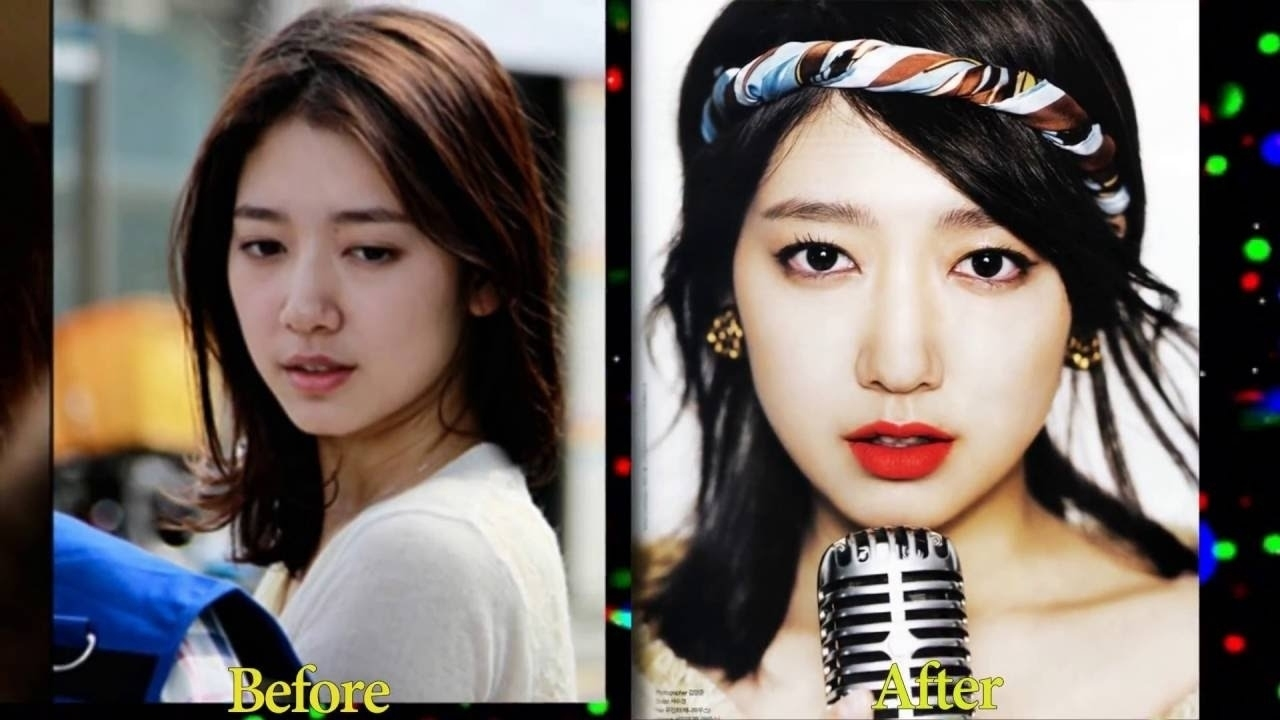 korean celebrity before and after makeup - wavy haircut
