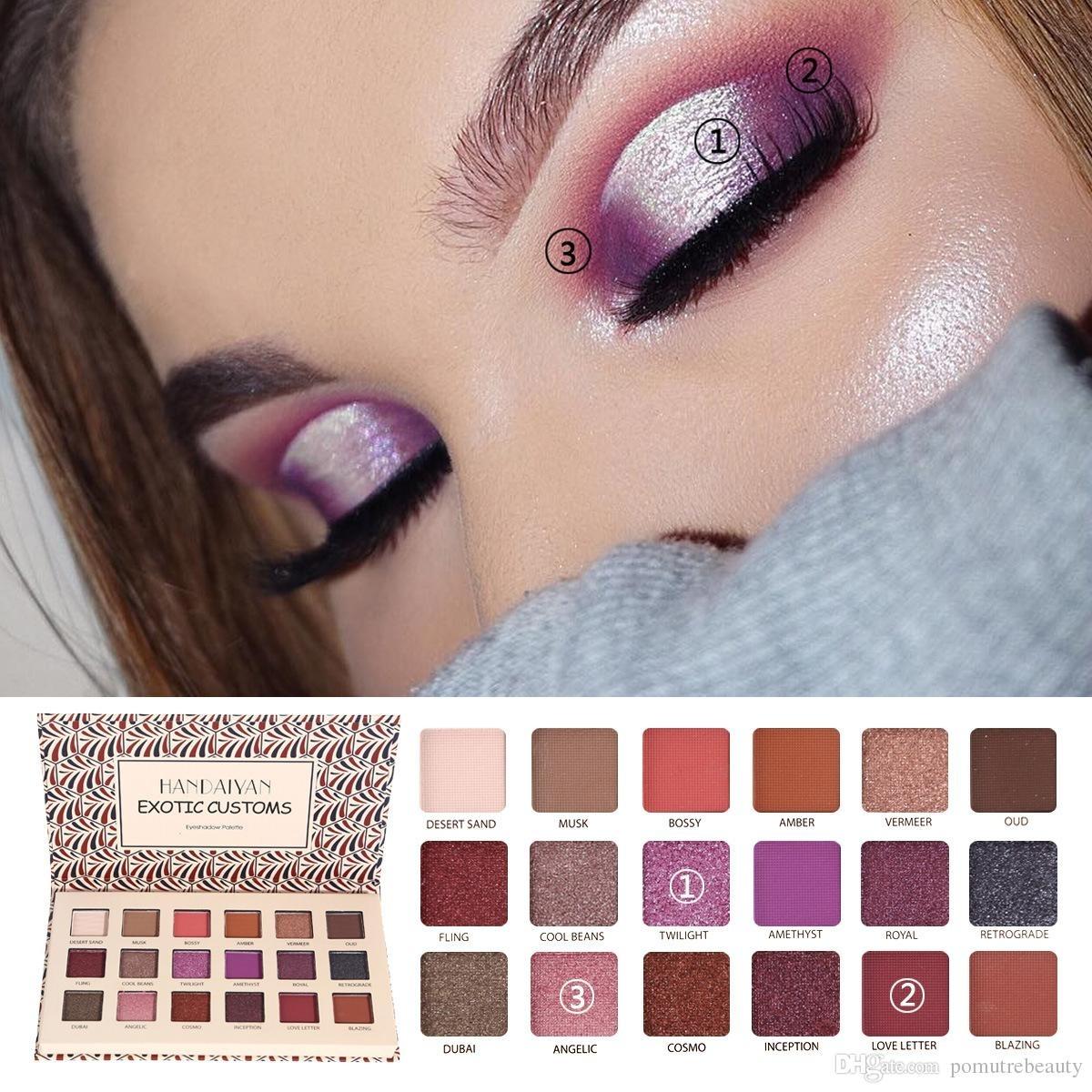 Makeup Eyeshadow Palette 2018 Matte High Pigment Eyeshadow Palette with Makeup Palettes For Green Eyes