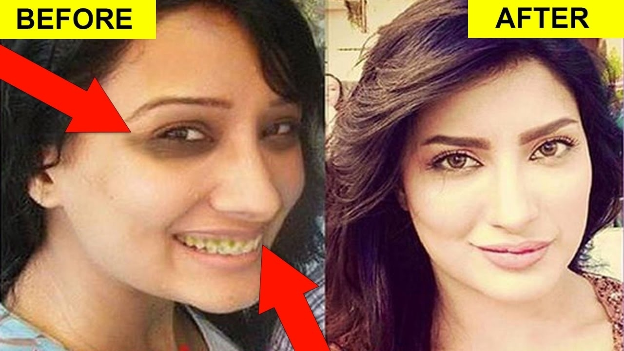 pakistani celebrities without makeup before and after - wavy