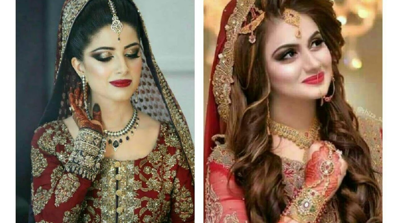 pakistani bridal makeup and hairstyle pictures - wavy haircut