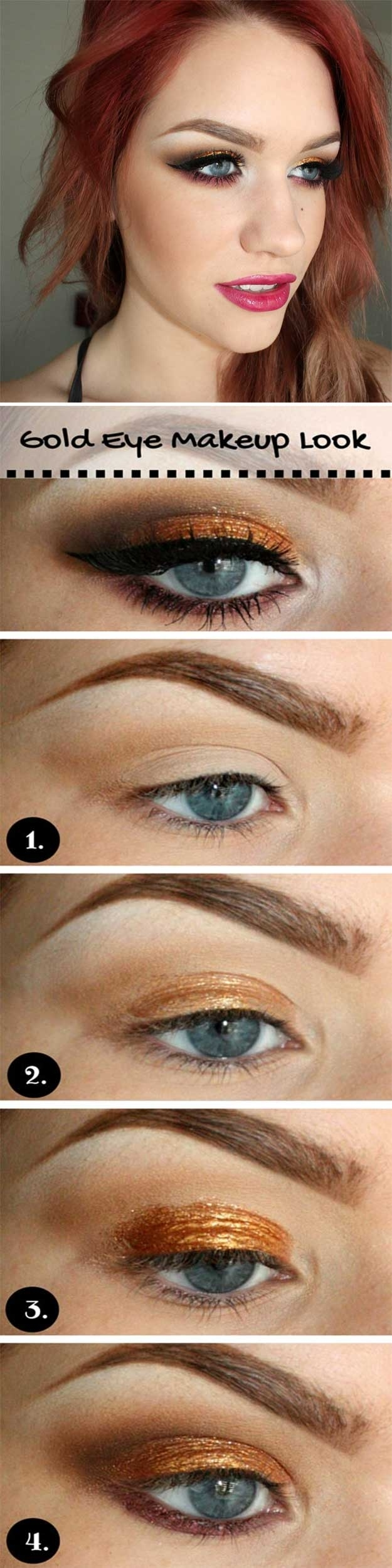 makeup tutorials for blue eyes and red hair - wavy haircut