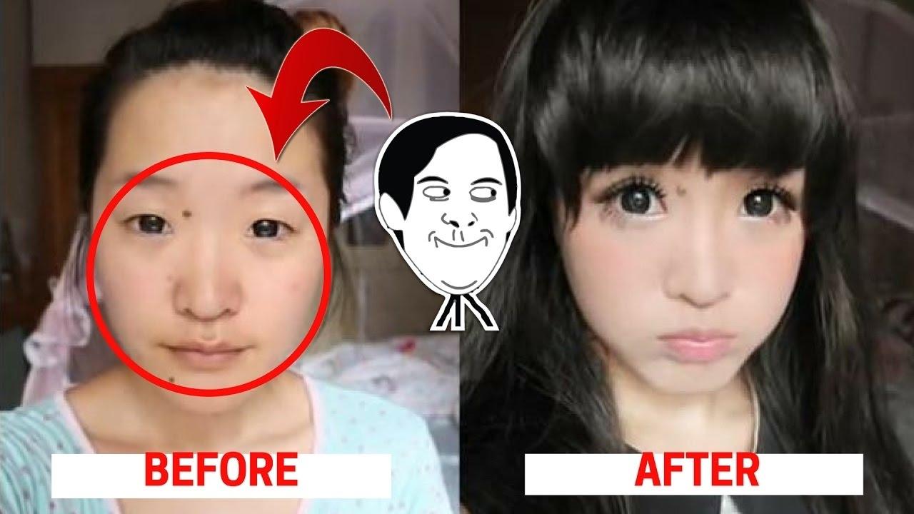 before after make up orang korea - wavy haircut