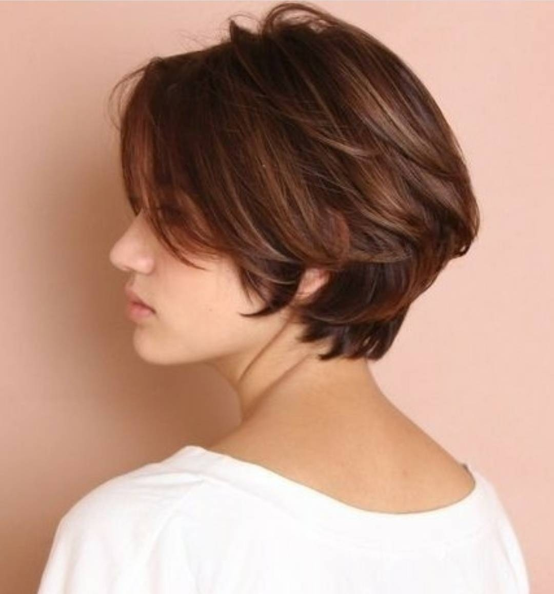 10 Chic Short Bob Haircuts That Balance Your Face Shape! intended for Short Hair With Center Part