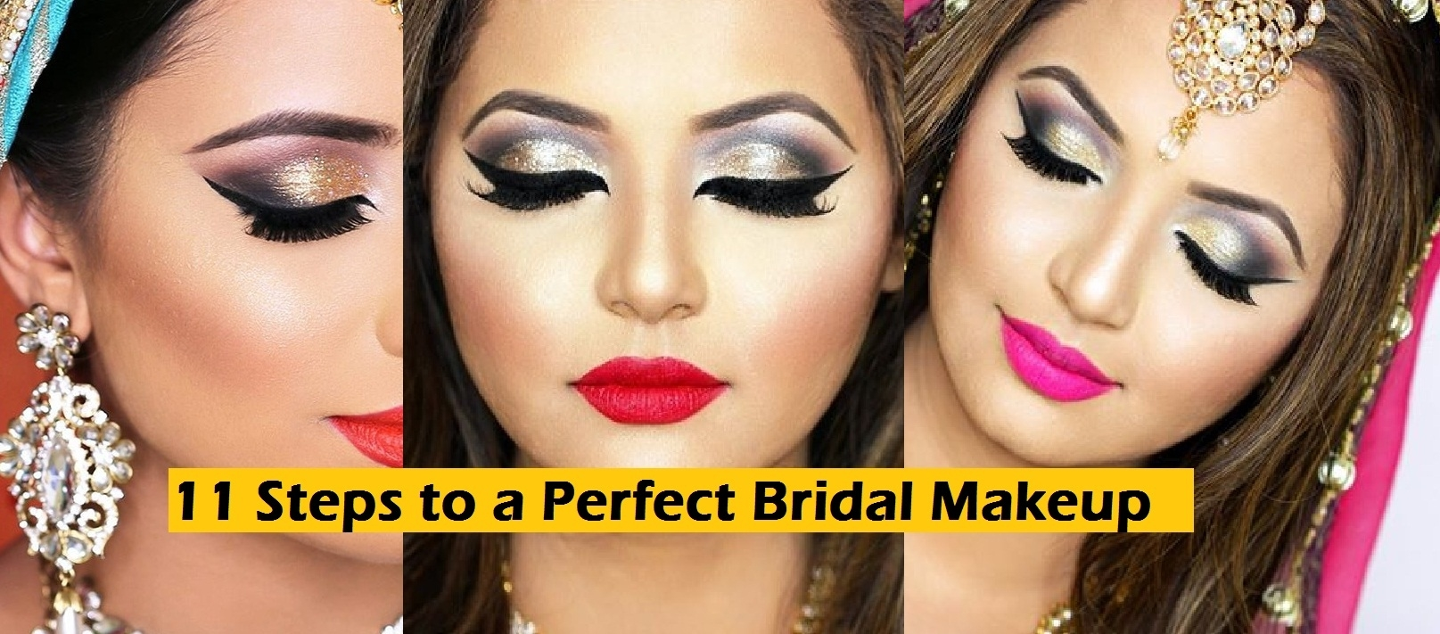 11 Steps To Perfect Bridal Wedding Makeup Tutorial within Bridal Makeup Step By Step Pictures