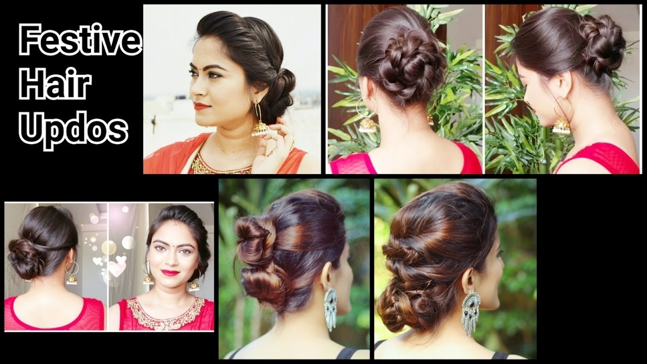 2 Quick&easy Indian Bun Hairstyles For Saree/anarkali/lehnga//party in Indian Bun Hairstyle For Saree