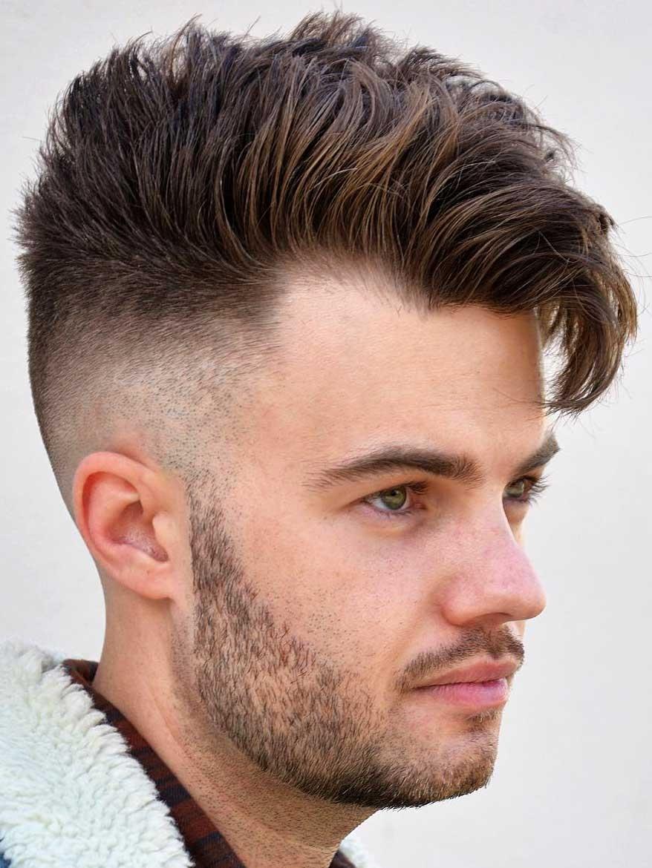 one side hair cut men - wavy haircut