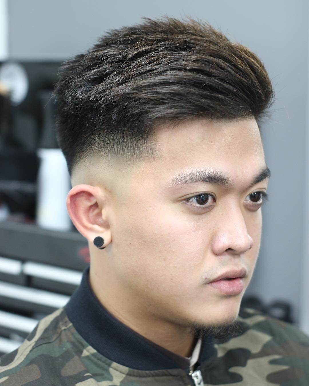 comb over fade asian - wavy haircut