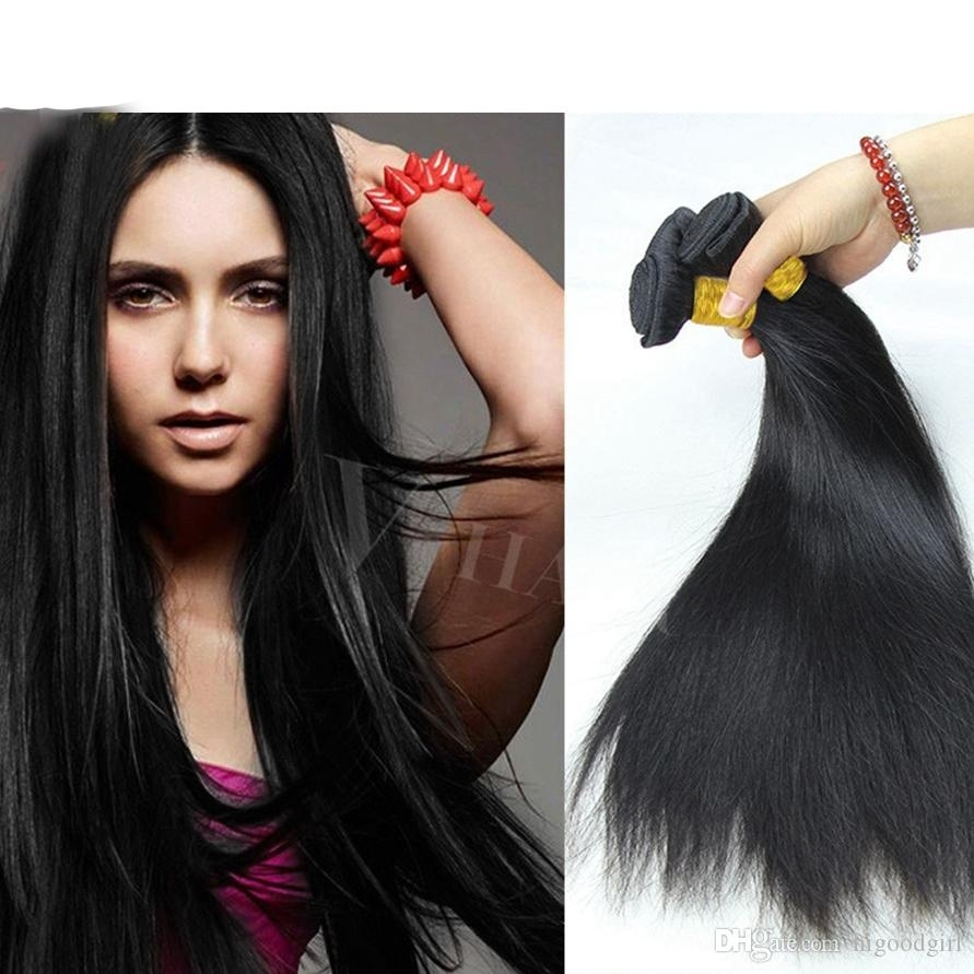 8A Unprocessed 14 Inch Human Hair Brazilian Straight Sew In Soft And for 14 Inch Straight Weave