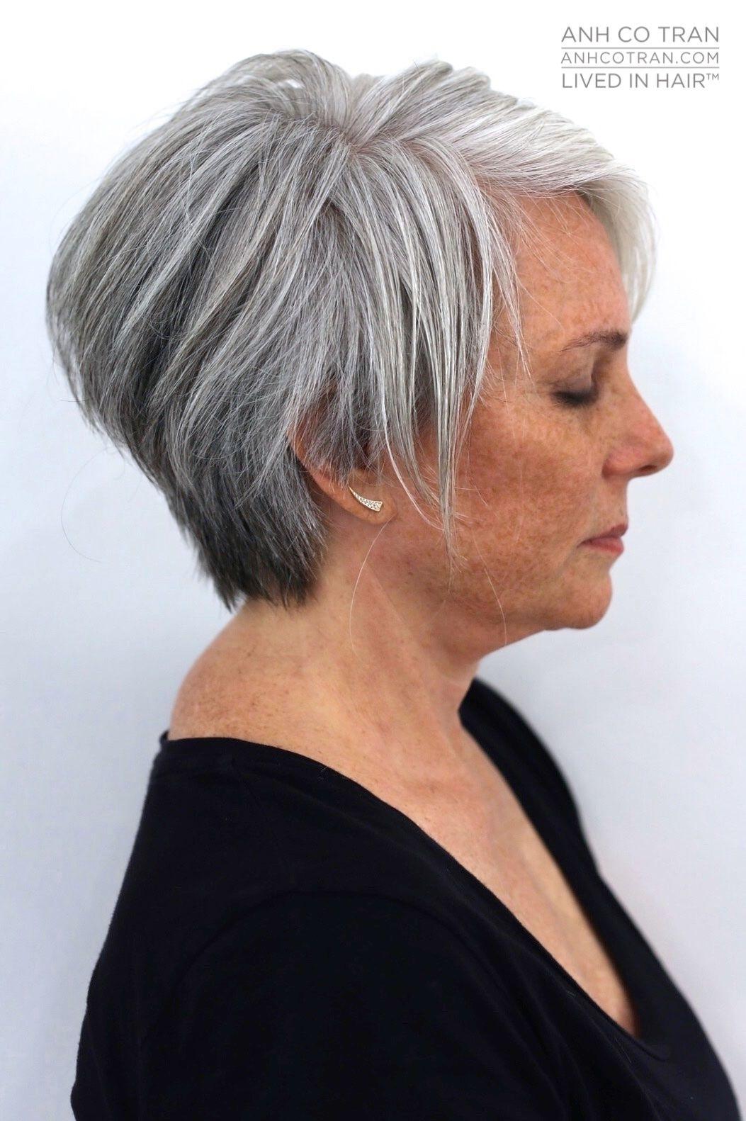 Anh Co Tran | Gray Hair In 2019 | Short Grey Hair, Short Hair Styles in 2019 Gray Hair Short