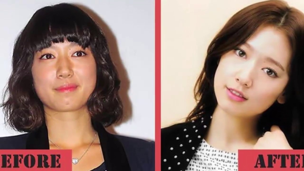 asian celebrities before and after makeup - wavy haircut