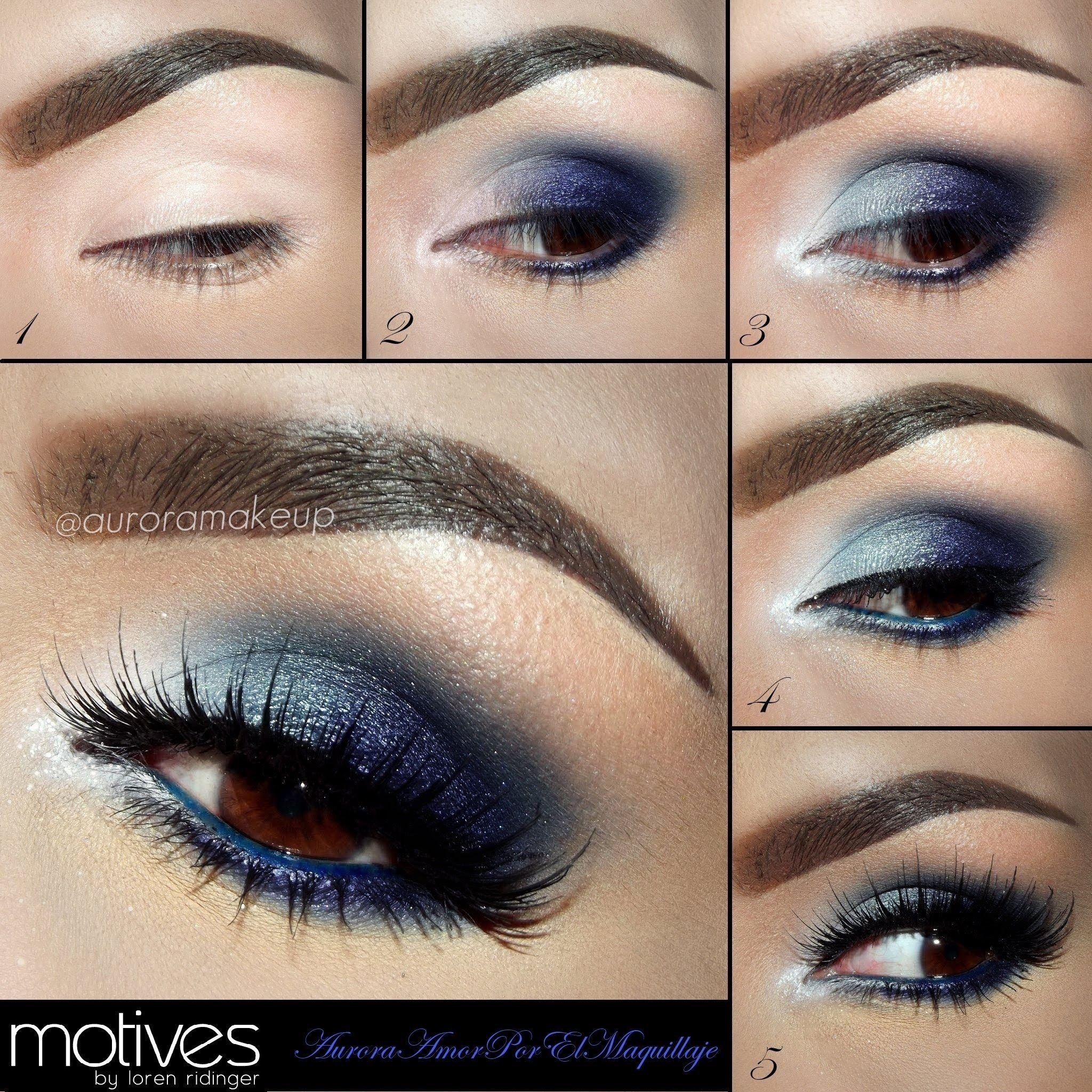 Blue Eye Shadow For Brown Eyes Tutorial With Aurora Makeup And for How To Apply Brown Eyeshadow For Blue Eyes