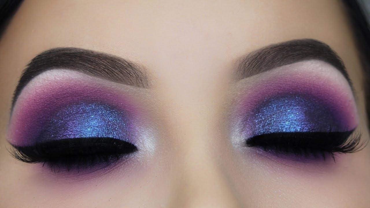 Blue Purple Smokey Eye Makeup Tutorial - Youtube inside How To Do Purple Eyeshadow For Blue Eyes
