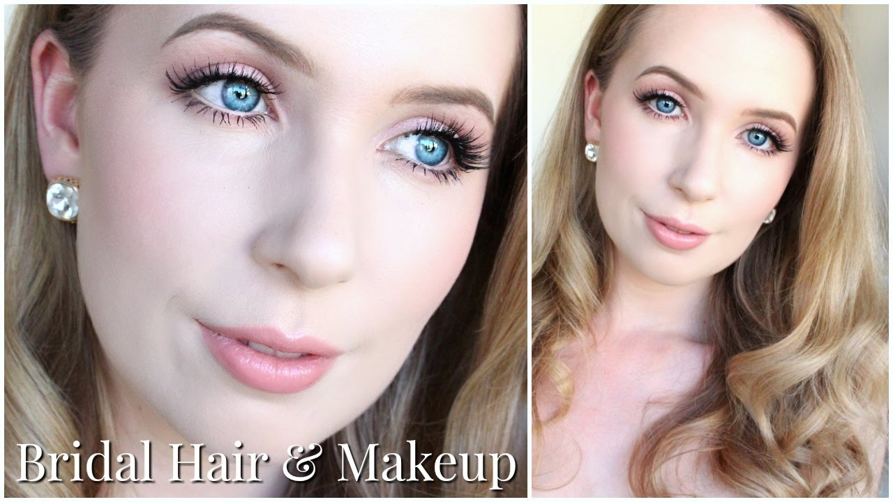 Bridal Hair & Makeup For Very Pale Skin & Blue Eyes - Youtube throughout Eyeshadow Blue Eyes Pale Skin