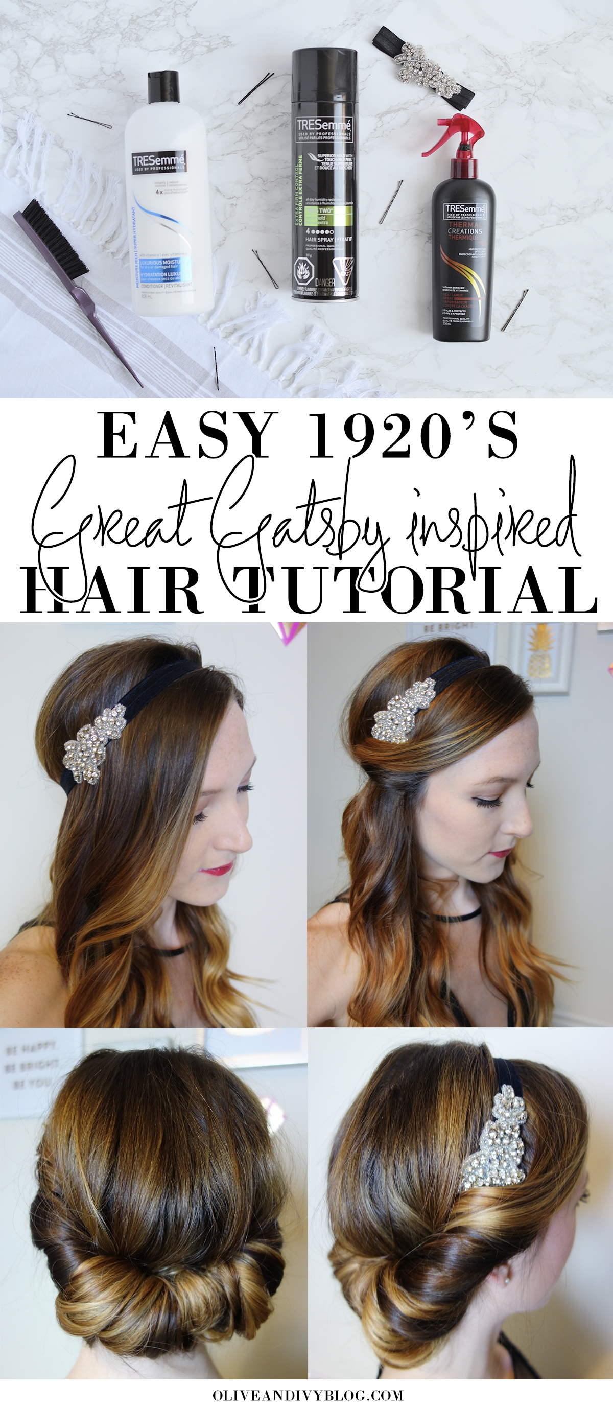 Easy 1920's/great Gatsby Hair Tutorial   1920S   1920S Hair, Great pertaining to Gatsby Hair With Fringe