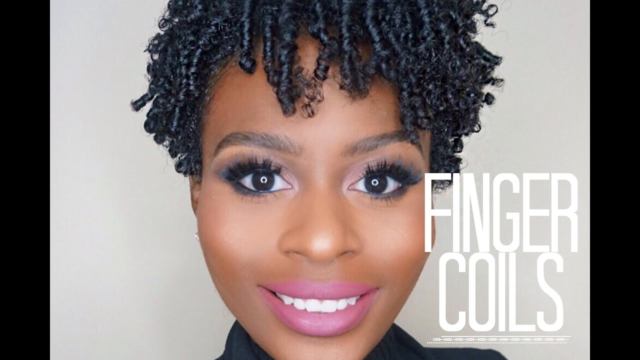 Finger Coil Out On Short Natural Hair - Youtube for How To Coil Short Natural Hair