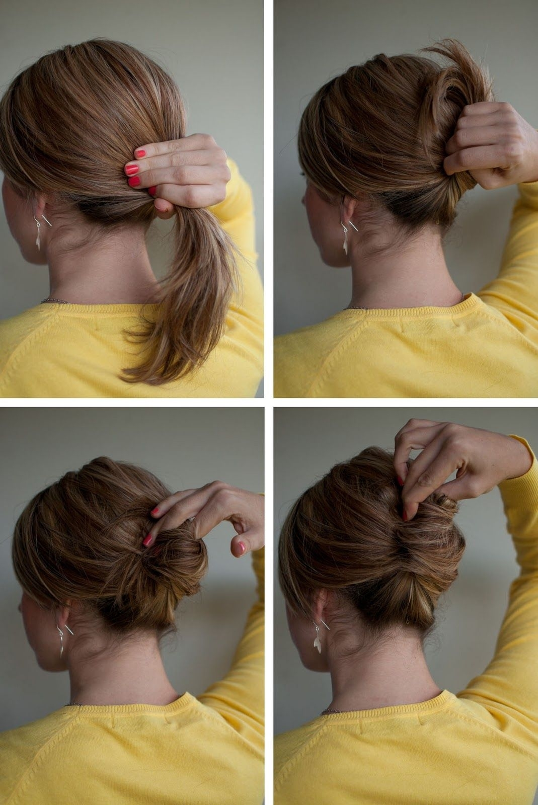 Hairstyle How-To: Easy French Roll | Hair Ideas | Roll Hairstyle in French Roll Hairstyle Research