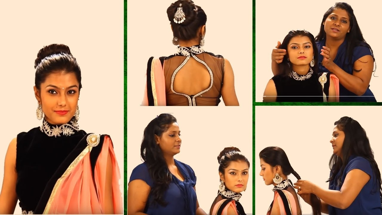 indian hairstyle for lehenga step by step - wavy haircut