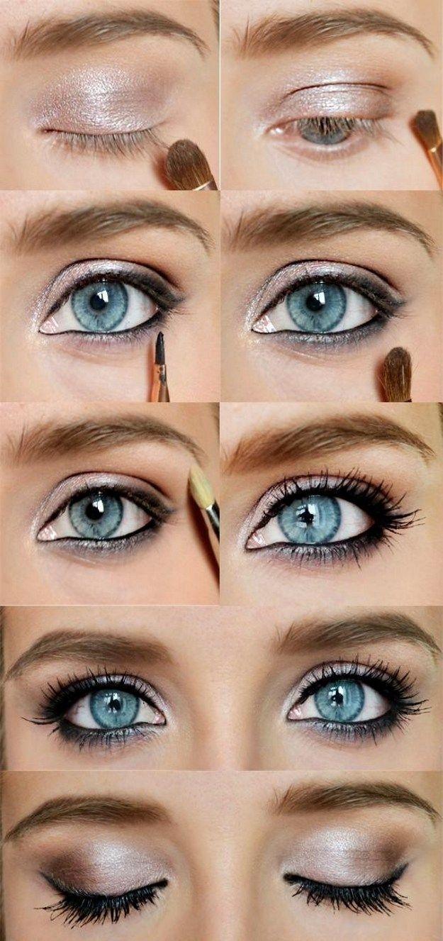 Lovely Makeup Tutorials For Blue Eyes   Makeup   Makeup, Beautiful with Makeup Tutorial For Blue Eyes