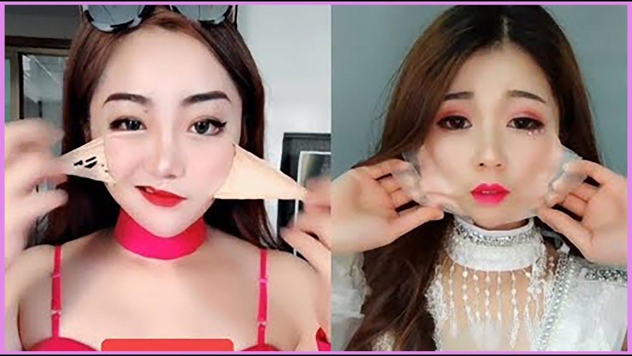 before after makeup ala korea - wavy haircut