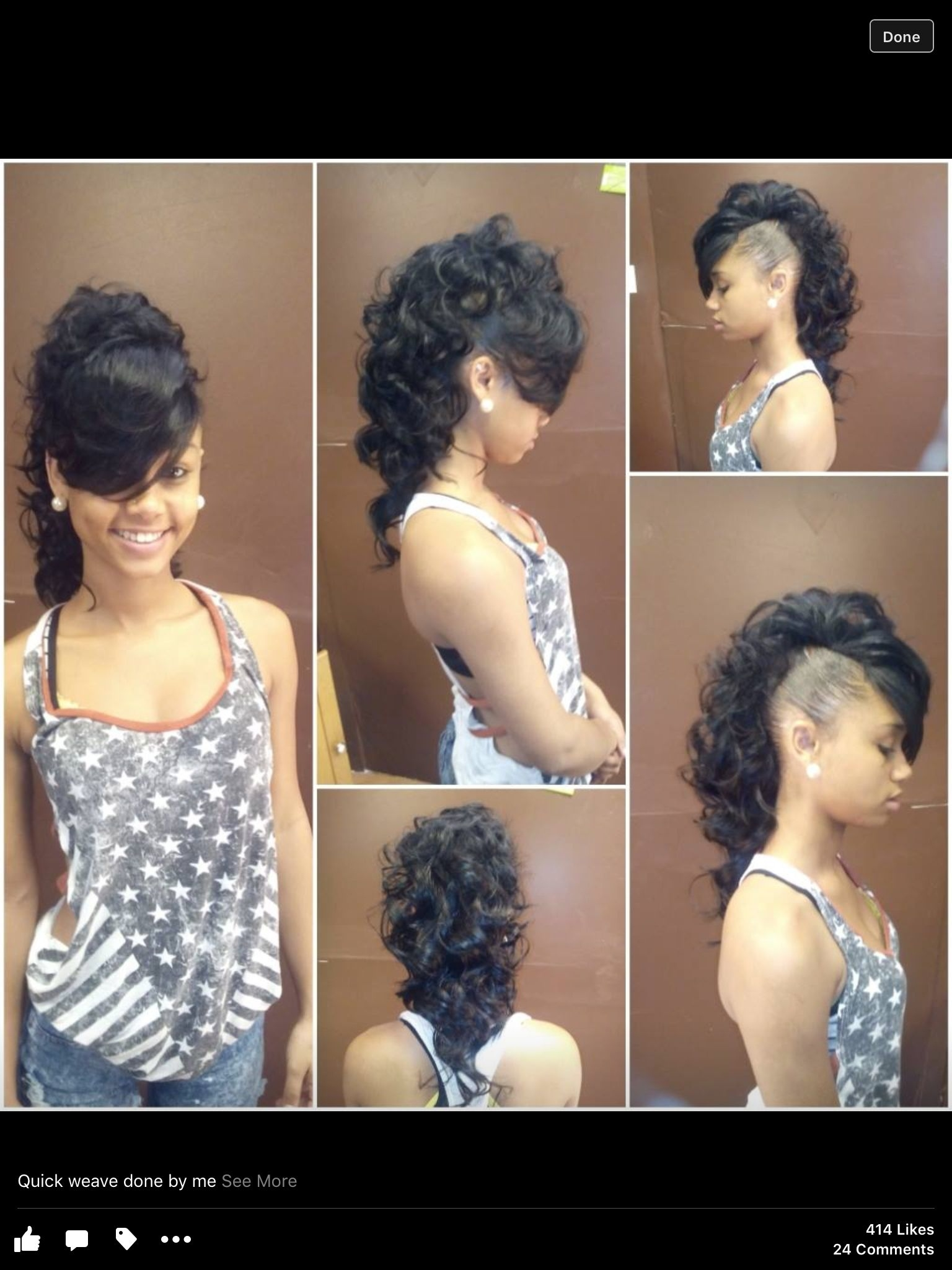 sew in mohawk hairstyles - wavy haircut