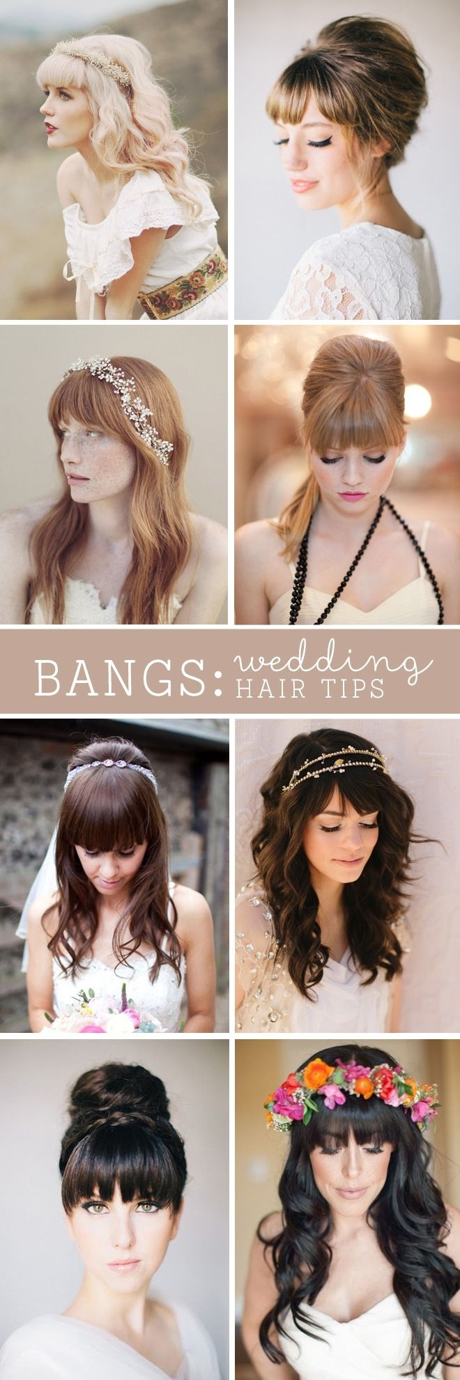 Must Read Tips For Wedding Hairstyles With Full Fringe (Bangs pertaining to Wedding Hair Styles With Full Fringe