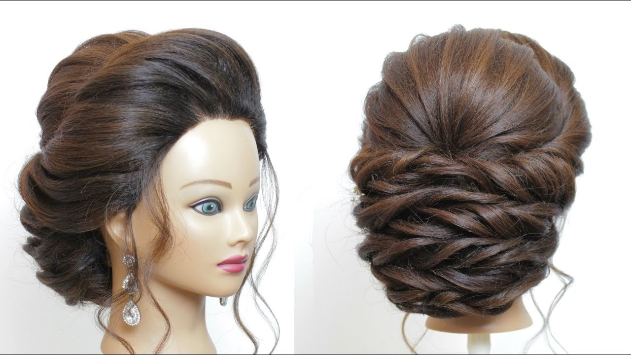 New Bridal Hairstyle For Long Hair Step By Step. Perfect Wedding with Hairstyle For Wedding Step By Step