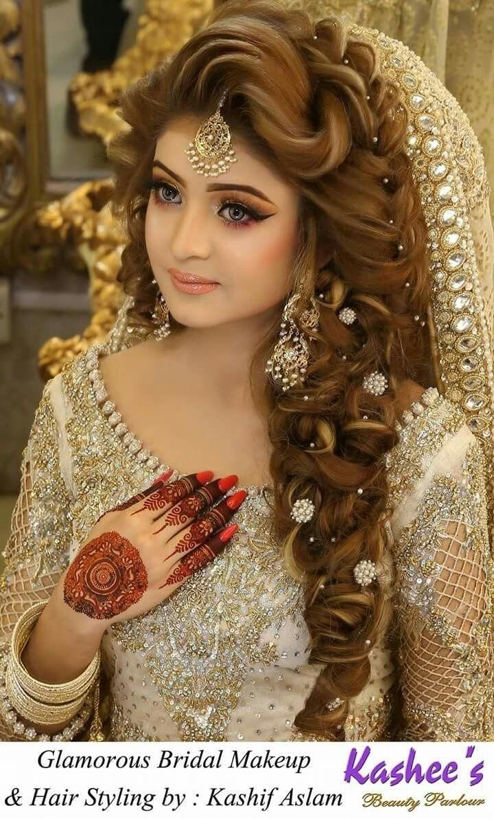 Pakistani Bridal   Hair Style   Pakistani Bridal Hairstyles, Bridal inside Latest Pakistani Bridal Makeup Images