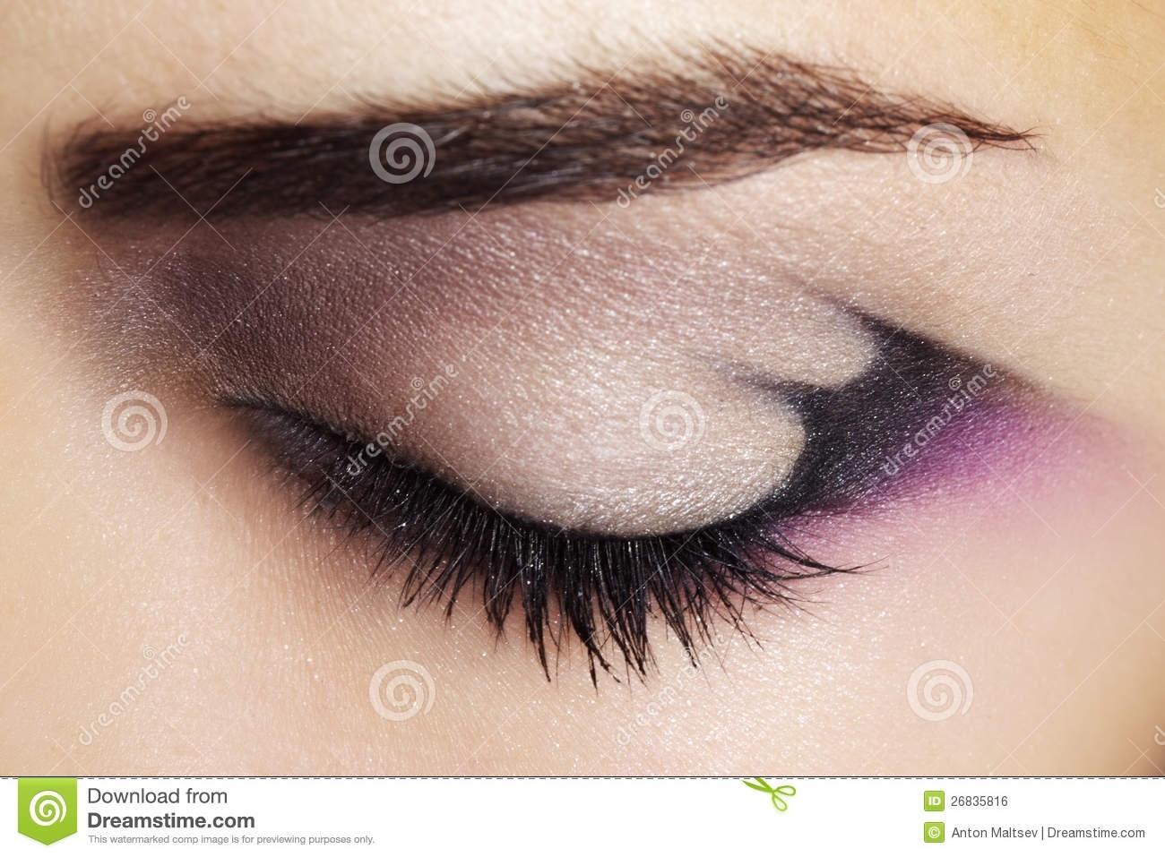 Purple Eye Makeup Stock Photo. Image Of Pink, Up, Mascara - 26835816 with regard to Eye Makeup Pics Free Download