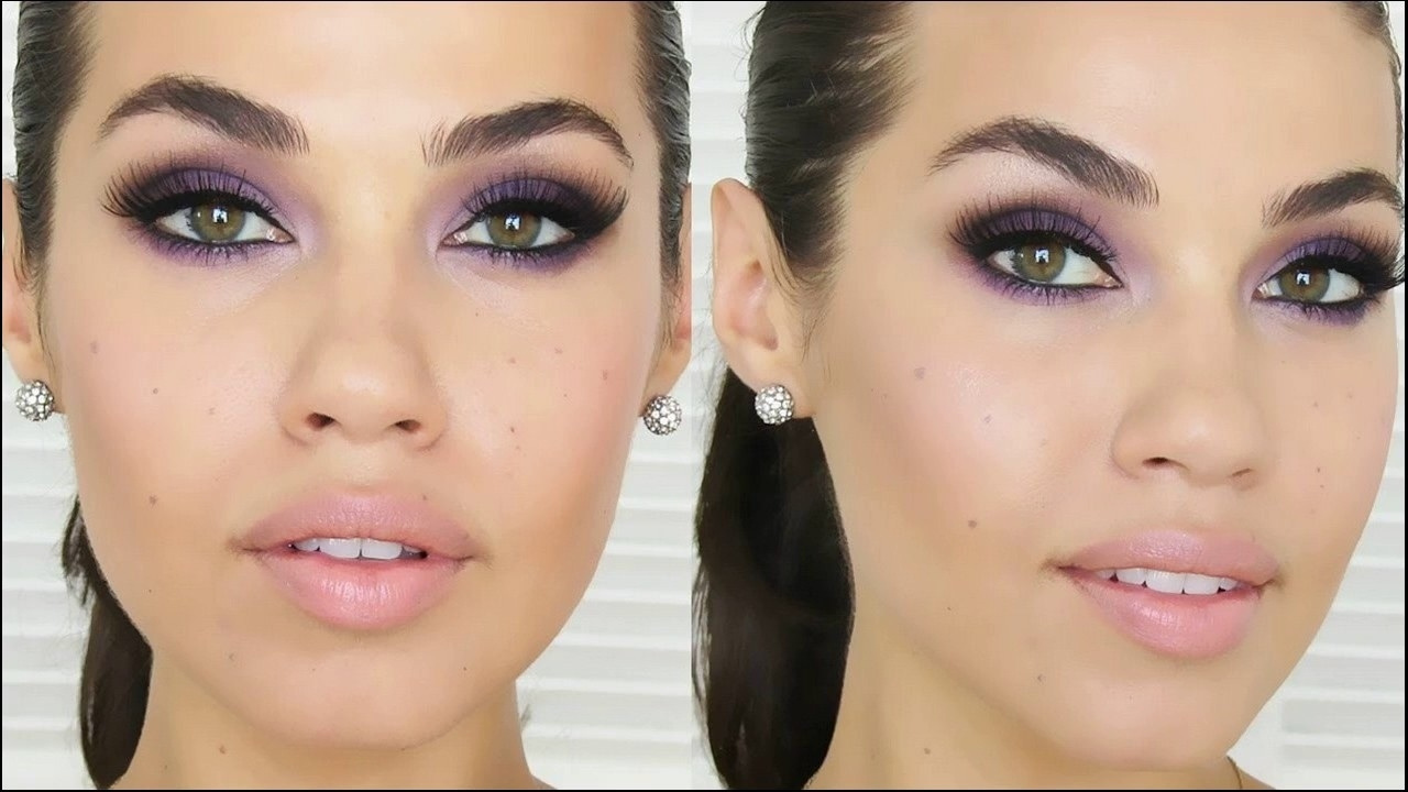 how to apply purple eyeshadow for hazel eyes – wavy haircut