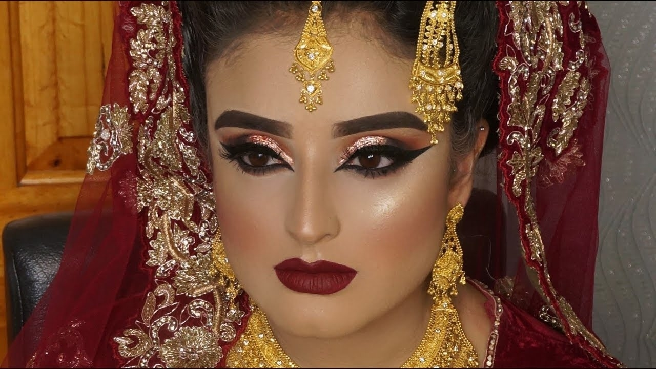 Real Bride | Asian Bridal Traditional Makeup | Dramatic Bold Winged Eyes  And Dark Red Lipstick regarding Asian Bridal Makeup Images